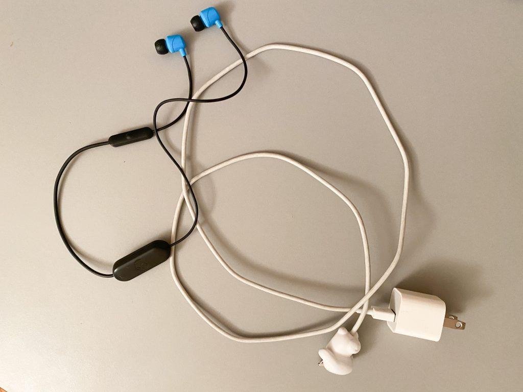 Earphones + Phone Charger