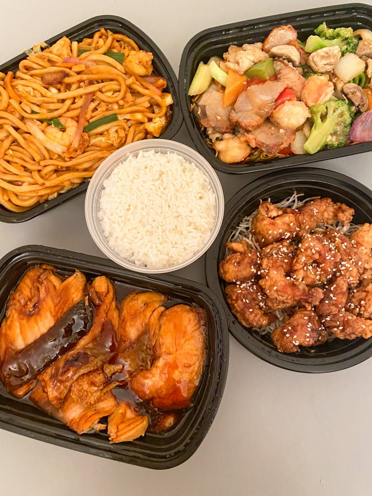 Dragon Pearl Takeout - Shanghai Noodles, Sesame Shrimps, Grilled Salmon, Cantonese Noodles