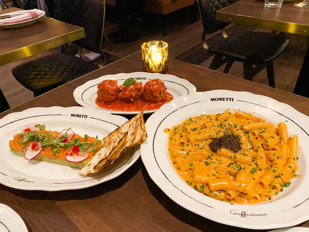 Moretti Dishes - Meatballs and Truffle Mac and Cheese